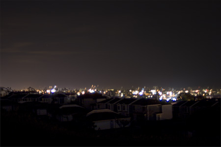 View from my backyard with power out