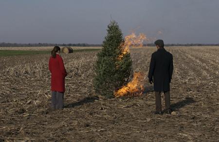 The Merry Gentleman Christmas tree burn