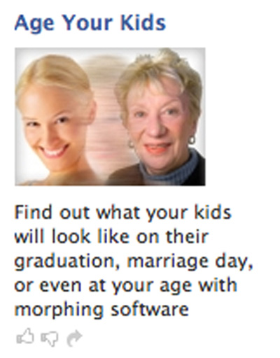 Facebook ad age morphing