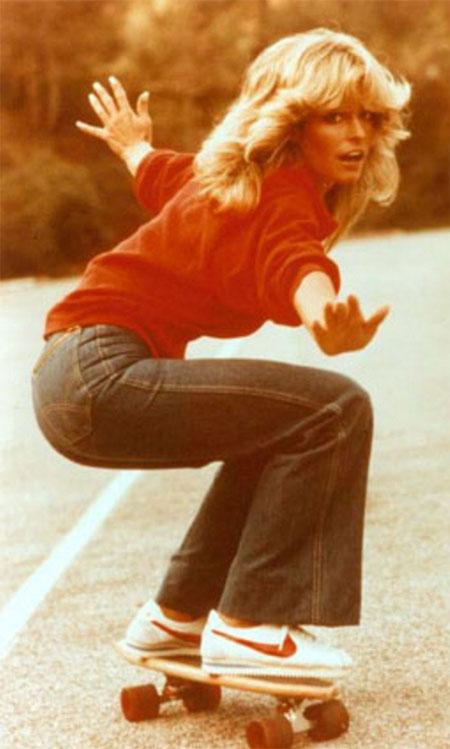 Farrah Fawcett skateboard