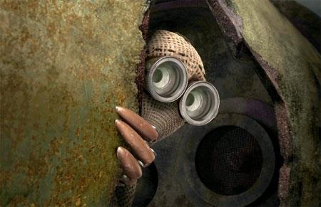 Shane Acker's 9 peeking out