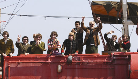 Pirate Radio group on boat