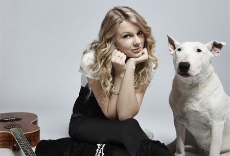 Taylor Swift and dog