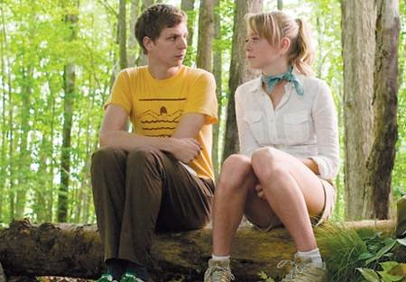 Michael Cera and Portia Doubleday having a chat