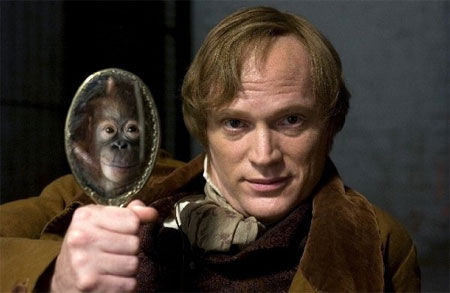Why So Serious - Paul Bettany Darwin Creation Monkey Mirror