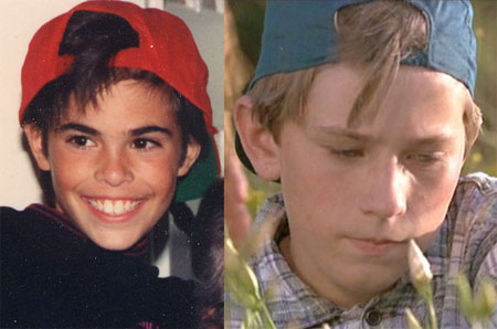 backwards hat comparison- me and Rocky from 3 Ninjas
