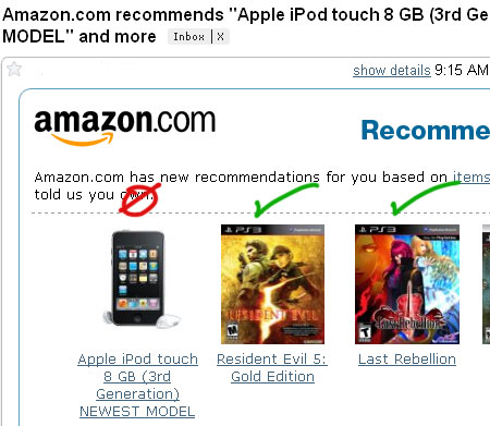 amazon recommends ipod