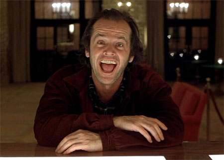Jack Nicholson all work and no play happy