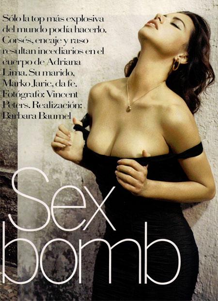 Adriana Lima Spanish Voegue sex bomb