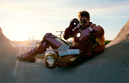 Robert Downey Jr. Iron Man 2 doughnut