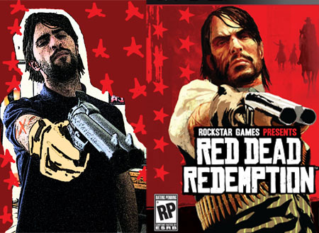 Mark Mushakian and John Marston from Red Dead Redemption comparison