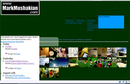 markmushakian.com redesign messy progress