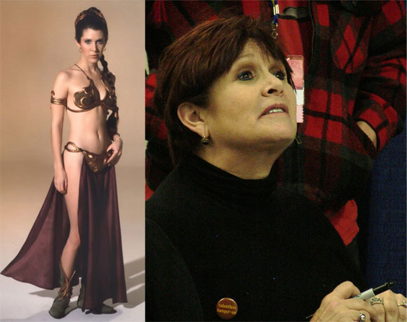 attractive older women problem - carrie fisher