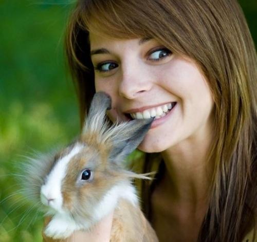 brown eyes girl eating bunny ear om-nom-nom