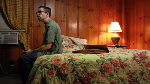 production still for Aaron, La Crescenta May-Lane Motel room 8 interior