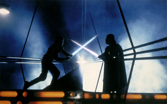 Luke Skywalker vs Darth Vader in The Empire Strikes Back