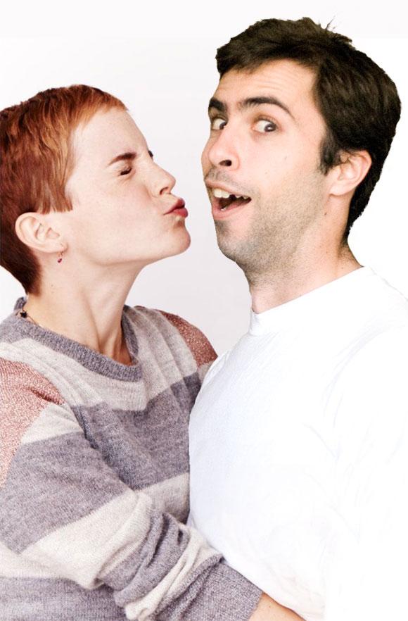 Emma Watson and Mark Mushakian portrait kiss smoochie