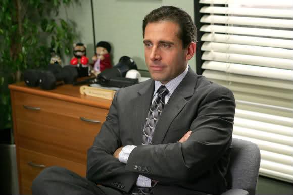 Michael Scott in office goodbye Steve Carell