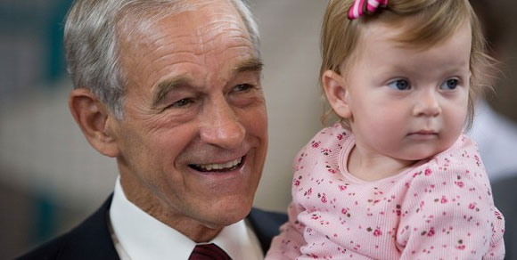 Ron Paul with baby