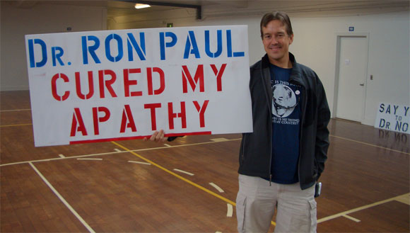 Dr. Ron Paul cured my apathy sign