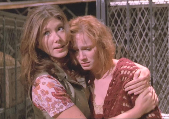 Jewel Staite and Christina Hendricks in Firefly