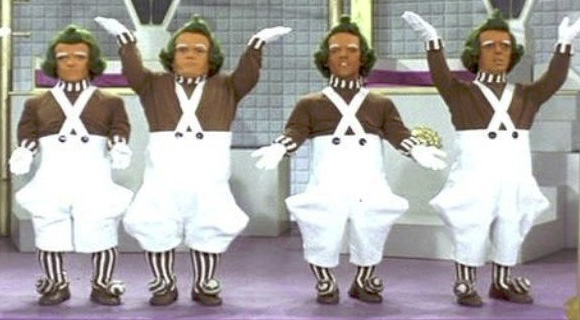 Oompa Loompas in golden goose room