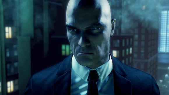 Hitman Absolution Agent 47 looking angry as always