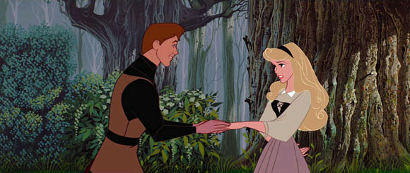 Aurora meeting Phillip in forest