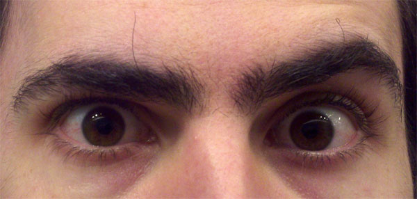 Mark Mushakian long and curly bush eyebrow hairs