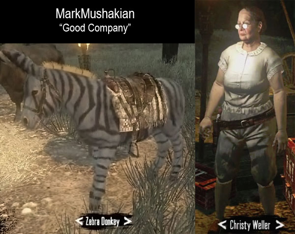 Red Dead Redemption Christy Weller Zebra Donkey