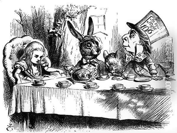 Alice's Adventures in Wonderland March Hare Mad Hatter tea party