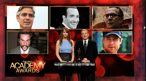 2012 84th Academy Award Oscar lead actor nominations