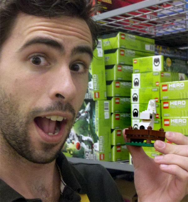 Mark Mushakian with Lego easter bunny