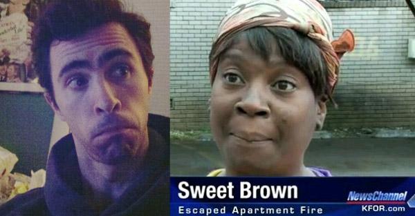 Mark Mushakian and Sweet Brown