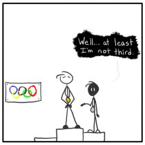 Out of the Box comic 090 Optimistic Olympian