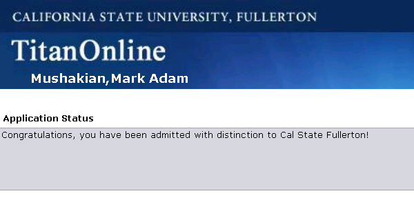 cal state fullerton admission acceptance