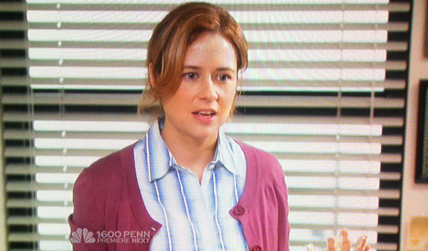 Jenna Fisher as Pam Halpert in the office lice