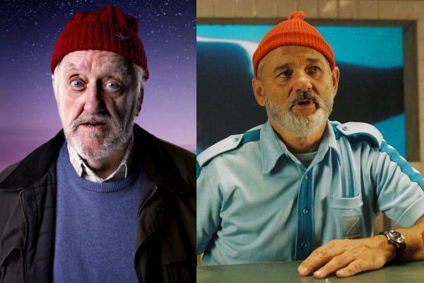 Wilfred Mott companion from Doctor Who and Bill Murray as Steve Zissou