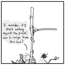 Out of the Box stick figure web comic 119 Saint Stickman I