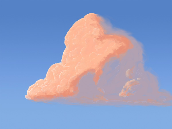photoshop digital painting of cloud from tutorial