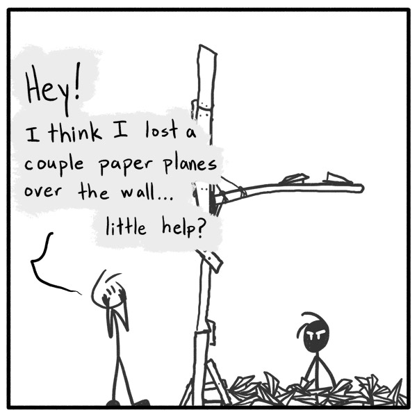 Out of the Box stick figure webcomic 121 Hey, Mr. Wilson