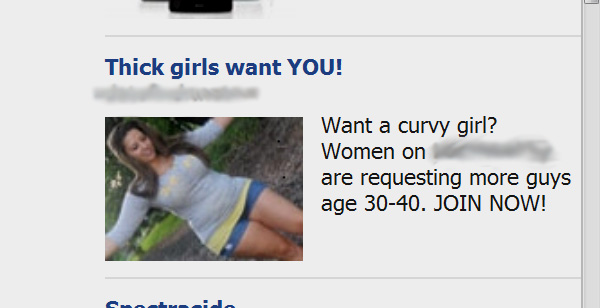facebook ad curvy fat bottomed girls want you