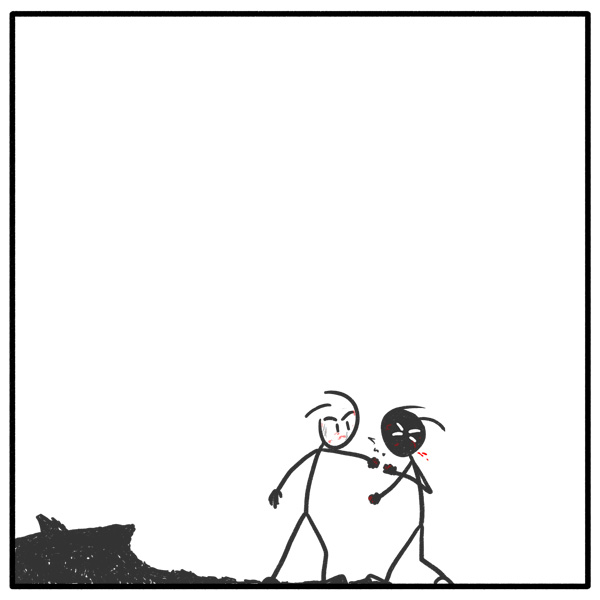 Out of the Box stigfigure web comic 126 Fisticuffs