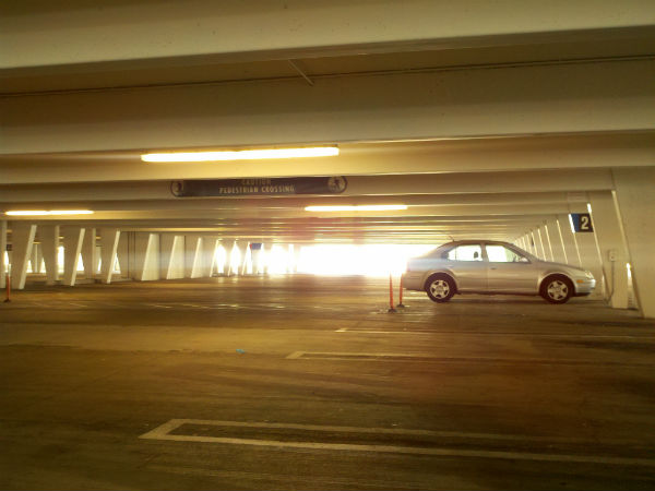 photograph 365 project Mission Viejo mall parking structure morning sunlight