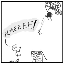 Out of the Box stickman webcomic acme 130 A Gravity Situation
