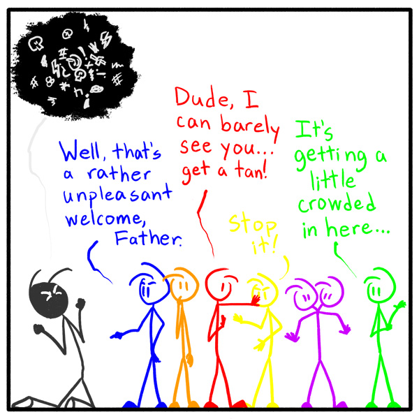 Out of the Box weekly stickfigure web comic 132 Roy G Biv