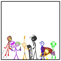 Out of the Box weekly stickman web comic superheroes 135 What A Super Day