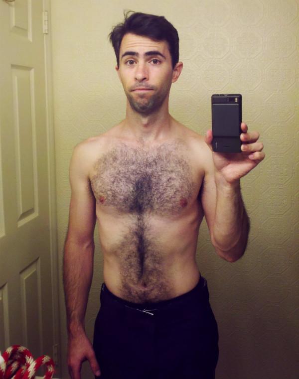 Mark Mushakian shirtless workout progress report 2 ooh la la