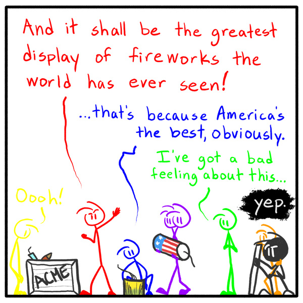 Out of the Box stickfigure comic 137 Patriotically Legen- (wait for it)