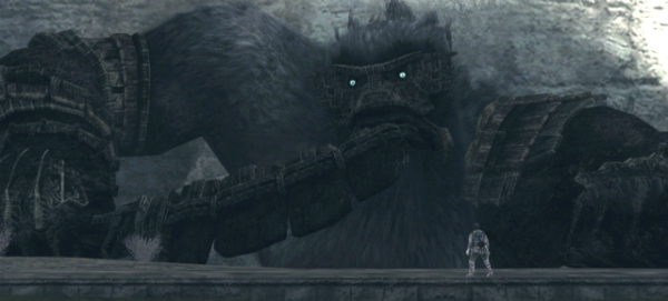Shadow of the Colossus giant with sword